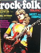 Rock and Folk N°88 MOTT THE HOOPLE ALVIN LEE BILL WYMAN FRANCOIS BERANGER