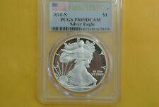 2018-S Proof American Silver Eagle PCGS PR69 DCAM FirstStrike Flag Label