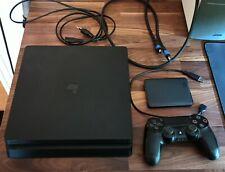 Playstation 4 slim 500Gb + externe 500Gb HDD, Controller u. alle nötigen Kabel