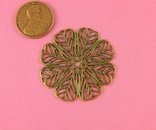 Motif Filigree - 1 Pc(s) Lovely Vintage Design Ant Brass Leaf