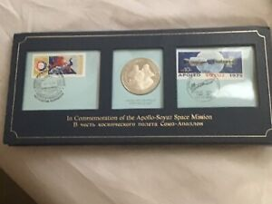 Extremely Rare Stamps & Coin Commemoration of the APPOLO - SOYUZ Space Mission