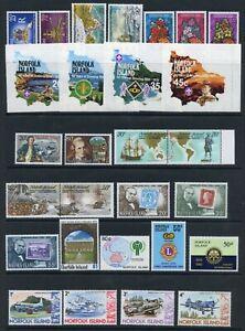 Weeda Norfolk Island 229//289 VF MNH 1978-1982 issues CV $35.25