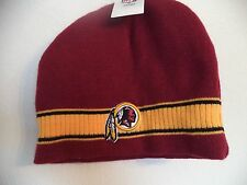 Men's Red Redskins Beanie. 100% Acrylic. One Size