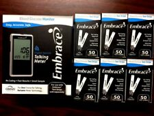 Embrace Blood Glucose 300 Test Strips Plus FREE METER NO CODING Exp:08/2018