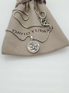 "David Yurman 2003 Butterfly Pendant Necklace Adjustable Box Chain 16"" & 17"""
