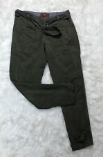 74AM 7 For All Mankind 30 Women's Lyocell Olive Green Cargo Skinny Pants Euc