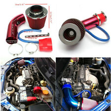 Alumimum Car Cold Air Intake Filter Induction Kit Pipe Hose System Red Universal