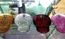 Halloween Skull Glass Candy Plates NWT