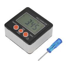 Inclinomètre Numérique Jauge d'Angle Mètre Rapporteur 4 x 90 ° Noir Ecran LCD