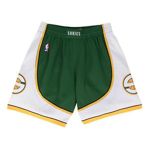 Mitchell & Ness Dark Green NBA Seattle Supersonics 2007-08 Swingman Road Shorts