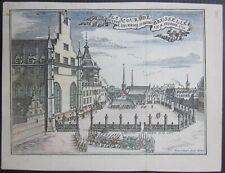 1743 COUR BRUSSELLE Palais du Coudenberg Bruxelles Harrewijn Belgique België