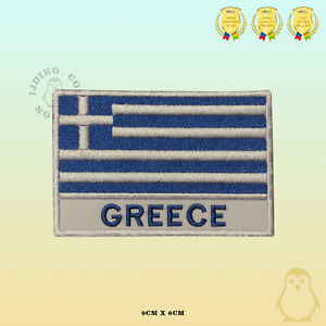 Greece National Flag With Name Embroidered Iron On Sew On Patch Badge