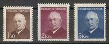 Czechoslovakia 1948 MNH Mi 529-531 Sc 340-342 Benes,President from 1935 to 1938