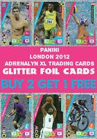 PANINI OFFICIAL LONDON 2012 OLYMPICS ADRENALYN XL GLITTER FOIL CARDS