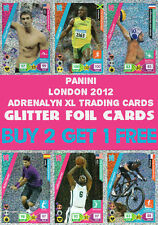 PANINI OFFICIAL LONDON 2012 OLYMPICS ADRENALYN XL GLITTER FOIL CARDS