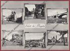 MILANO MAGENTA 39 SALUTI da... VEDUTINE Cartolina REAL PHOTO viaggiata 1957