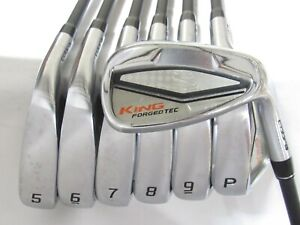 Used RH Cobra King Forged Tec Iron Set 5-P,G Stiff Flex Graphite Shafts