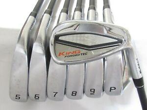 Used RH Cobra King Forged Tec Iron Set 5-P,G Stiff Flex Graphite Shafts