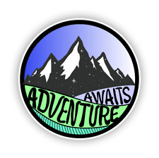 Adventure Awaits Mountain Car Vinyl Sticker Decal Sticker for Auto Cars Laptops