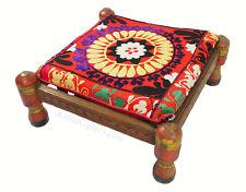 antik orient Suzani Hocker Stuhl  Sitzhocker Sitzkissen cushion Stool Pouf PNJB