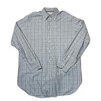Ermenegildo Zegna Mens Adult Shirt Plaid Long Sleeve Button Down Large 42 16 1/2