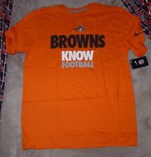 NEW NIKE NFL Cleveland Browns Football - Knows- T Shirt Men XL X-Large Orange NW