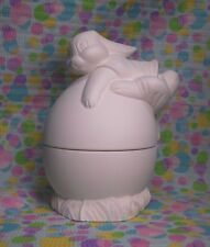 Bunny Egg Box (E10) Ceramic Bisque Ready To Paint