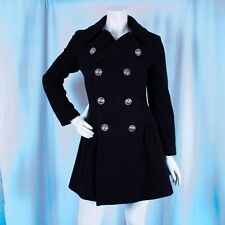 Jean Paul Gaultier Made in Italy Black Woman Pleated Double Breasted Coat