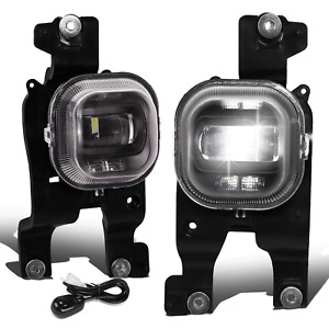 Fit 08-10 Ford F250-F550 Super Duty Clear Lens Projector LED Fog Light w/Switch