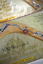(2) New Robert Croll Australian Made wooden boomerangs