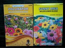 American Seed Flower Bed Seeds Pollinator & Sunny Area Wildflower Blends