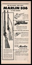 1954 Marlin 336 30/30-C Rifle & 336-SD Deluxe Sporting Carbine Ad