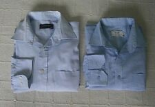 "2 Mens Shirts-  15"" Collar - Blue - Button Cuff - Used"