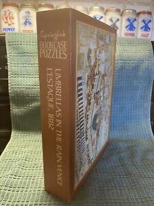 Springbok Bookcase Puzzles Umbrellas In The Rain & L'Estaque 1882 Art 350 each