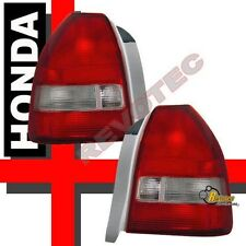 1996-2000 Honda Civic 3Dr Hatchback CX DX Red Clear Tail Lights Lamps 1 Pair