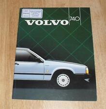 Volvo 740 Saloon Brochure - 1985 2.3 740 GL GLE GLT