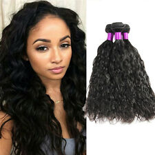 7A Brazilian Natural Curly Wave Black Virgin Human Hair Extensions 1/3/4 Bundles