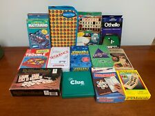 Lot of 13 Travel Games, Othello, Clue, Trouble, Jeopardy, Scrabble, Mancala