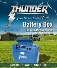 THUNDER WEEKENDER BATTERY BOX 12v 240v PORTABLE POWER PACK WITH INVERTER