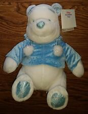 Winnie the Pooh Bear Snowflake Pals Exclusive Retired Stuffed Animal Plush Toy