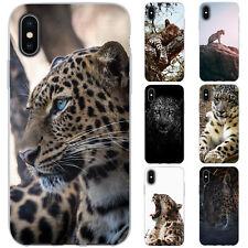 Dessana Leopardo TPU Funda Protectora Silicona Carcasa para Móvil Apple