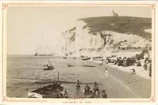 France, Étretat, les bains de mer, vue animée  Vintage albumen print Tirage