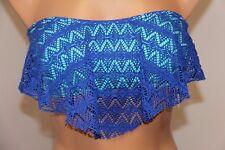 NWT Hula Honey Swimsuit Bikini Bra Top Sz L CBMRM Strapless Crochet