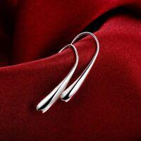 Tropfen Ohrringe 925 Sterling Silber Versilbert Plattiert