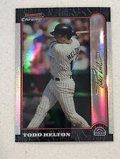 1999 Bowman Chrome Todd Helton #235 Refractor Colorado Rockies SP