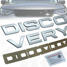 Silver Bonnet lettering for Land Rover DISCOVERY 5 front logo badge dynamic font