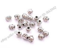20/50/100Pcs Antique Tibetan Silver Big Hole Spacer Beads 2MM Hole DB3022