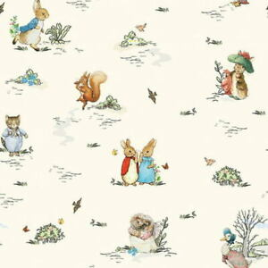 Beatrix Potter Peter Rabbit & Friends Digitally Printed Cotton Fabric BTY