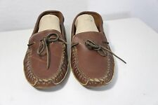 MINNETONKA MOCCASIN Soft Leather Sole Slip On Loafers size 8 Boat Shoe