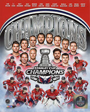 Washington Capitals 2018 Stanley Cup Champions Holtby Ovechkin 8x10 Photo